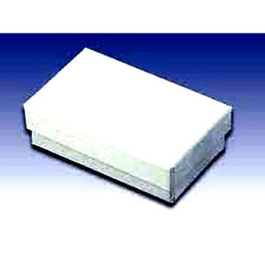 100 White Cotton Filled Jewelry Gift Boxes 3 1 4 X 2 X 1