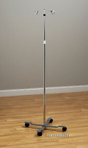 Iv Pole 4 Leg 2 Hook Adjustable Iv Stand 241