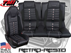 2005 2010 Ford Mustang Sport Xr Seat Upholstery Kit W Foam full set F r