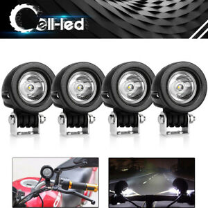 2 Inch 12w Led Work Lights Offroad Backup Pods Forklift Atv Bike Car Round Spot