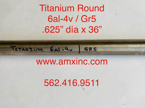 Titanium Round Bar 6al 4v 625 Dia X 36 Long