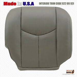 2003 2004 2005 2006 Chevy Tahoe Passenger Bottom Leather Heated Seat Cover Gray