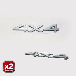 Jeep Grand Cherokee Zj Wj 4x4 Badge Decal Silver Emblem 2pc Set