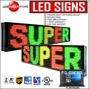 Led Super Store 3c rgy pc 2f ap 19 x52 Programmable Scroll Message Display Sign