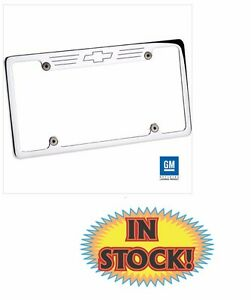 Bowtie License Plate Frame Without Light Polished Specialties 55623