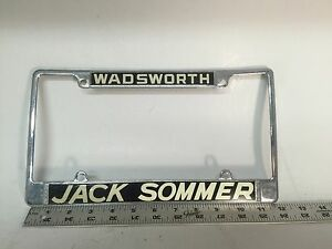 Vintage License Plate Frame In Stock | Replacement Auto Auto Parts Ready To Ship - New and Used ...
