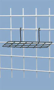 New Retails Black Powder Coat Finish Wire Shoe Shelves For Grid 10 l X 4 w