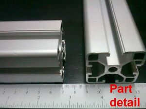 Aluminum T slot Extruded Profile 40x40 8 L600mm Corners T nuts Ends Set
