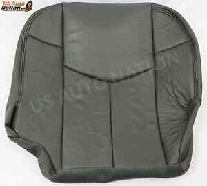 2002 Chevy Avalanche Driver Bottom Leather Seat Cover In Very Dark Graphite Gray