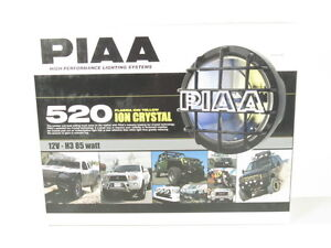 Piaa 520 Series Plasma Ion Yellow Halogen Round Driving Lamp Kit Fog Lights 5291