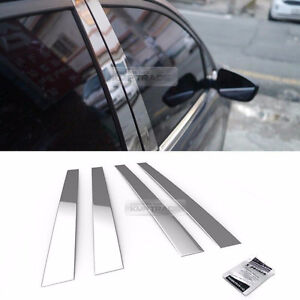 Stainless Steel Chrome Window Pillar Molding 4pcs For Chevrolet 2005 2007 Optra