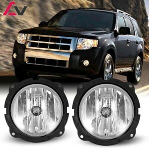 07 12 For Ford Escape Clear Lens Pair Oe Fog Light Lamp Wiring Switch Kit Dot