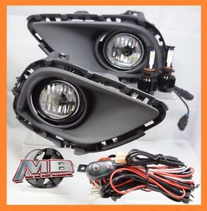 2013 14 2015 Mazda Cx 9 Clear Fog Light Kit H11 Cree Led Upgrade Wiring switch