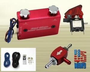 Jdm 2 0 Dual Stage Turbo Boost Controller Electronic Manual Rocket Switch Red