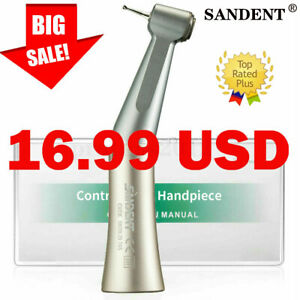 Dental Low Slow Speed Handpiece Contra Angle Push Button External Spray Fit Nsk
