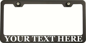 Georgia Font Personalized Custom Laser Engraved Black Subaru License Plate Frame