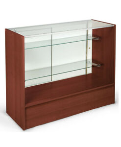 4 Full Vision Showcase Knock Down Cherry Display Case