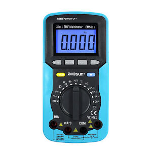 3 In 1 Digital Multimeter Emf Field Radiation Tester Volt Amp Detector Dc Ac