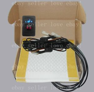 Auto Seat Heater Universal Dual Dial 5 gear Switch heated Seat Fit All 12v Cars