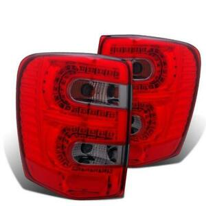 Cg 1999 2004 Jeep Grand Cherokee Red Smoke Led Tail Lights Set