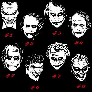 Vinyl Decal Sticker Joker Face Driver Car Window Decor Vehicle Batman Crime Art