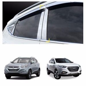 B Pillar Cover Garnish Chrome Molding Set For Hyundai 2011 2015 Tucson Ix35