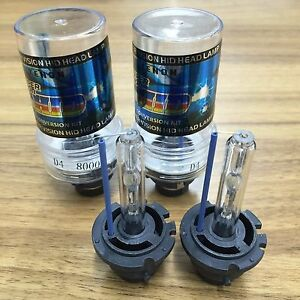 2pcs D4s D4r Hid Xenon Bulbs Replace Stock Headlight 8000k Ice Blue