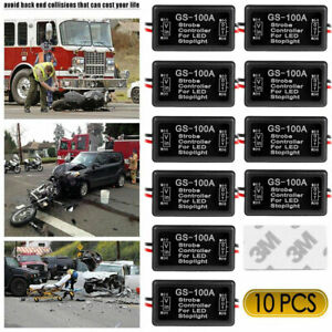 10x Gs 100a Flash Strobe Controller Flasher Module For Led Brake Tail Stop Light