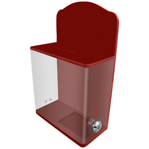 Mcb Locked Acrylic Donation Charity Box suggestion Box With Front Display