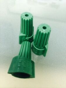 5000 Pc Green Double Winged Nut Grounding Wire Connectors Ground Twist On