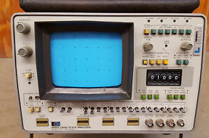 Hp 1600a Logic State Analyzer No Probes Powers Up No Way To Test Sold As Is