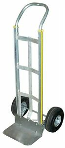 Milwaukee Hand Trucks 45110 Aluminum Flow Back Handle Truck With Curved Frame An
