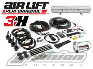 Air Lift 3h Digital Air Bag Suspension Kit 1 4 Free Billet Arms 444c 4 Gal Tank