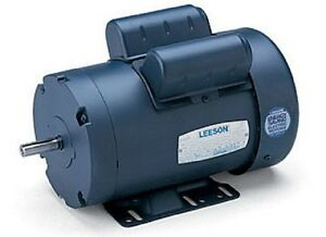 Leeson Electric Motor E110003 00 C6k11db6a 3 4 Hp 1200 Rpm 1 ph 115 230 Volt