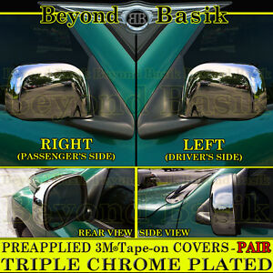 For 2002 2008 Dodge Ram 1500 2003 2009 2500 Full Chrome Mirror Covers Non Tow