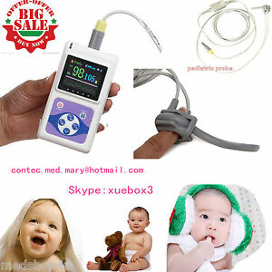 New Neonatal Pediatric Infant Kids Born Pulse Oximeter Spo2 Monitor pc Software