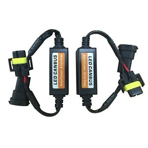 One Pair H11 H9 H8 Led Headlight No Error Warning Decoder Load Resistor Canbus