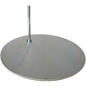 Ma 013 Silver Tone Round Metal Base For Mannequin With 0 5 Diameter Sole Rod