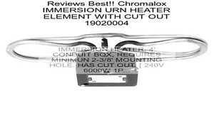 Chromalox Water Immersion Heating Element 4000 Kw 208v For Buffet Table