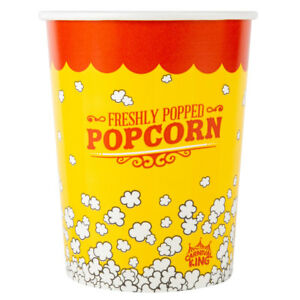 500 pack 32 Oz Round Paper Movie Theatre Concession Popcorn Cups