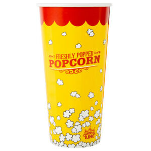 1000 pack 24 Oz Round Paper Movie Theatre Concession Popcorn Cups