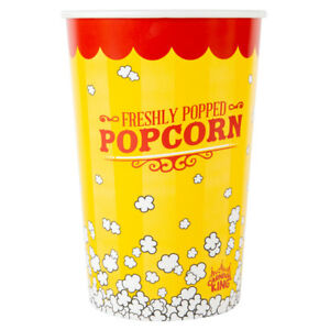360 pack 64 Oz Round Paper Movie Theatre Concession Popcorn Buckets
