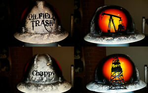 Oilfield Trash Hard Hat With Your Name On Back