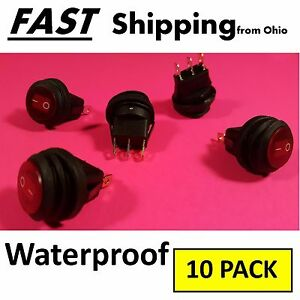 10 Pack Waterproof Switch Custom Application 12vdc 12v 12 Volt 20a