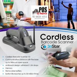 Cipherlab Pos Barcode Scanner 1166 Wireless Bluetooth Usb Complete Bundle New