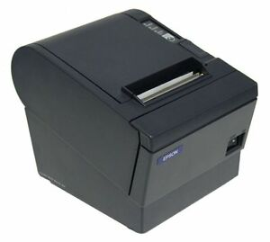 Epson Tm t88ii Thermal Receipt Printer serial Charcoal With Power Supply