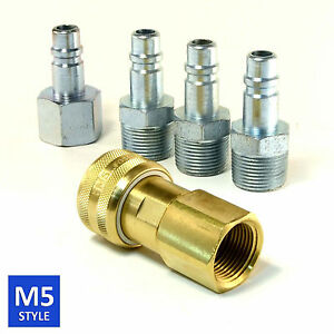 Foster 5 Series Brass Quick Coupler 1 2 Body 3 4 Npt Air Hose And Water Fittings