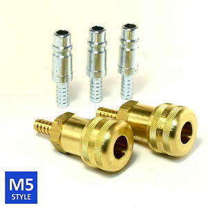 Foster 5 Series Brass Quick Coupler 1 2 Body 3 8 Hose Barb Air Water Fittings