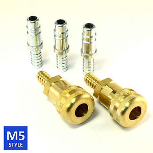 Foster 5 Series Brass Quick Coupler 1 2 Body 1 2 Hose Barb Air Water Fittings