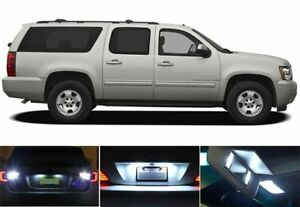 17x White Bulb Lights Interior Car Led Package Kit For 2007 2014 Chevy Suburban